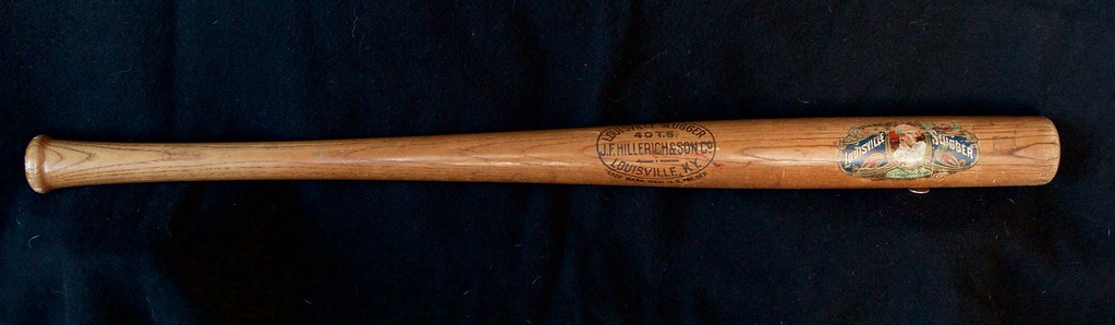 Tris Speaker 1912/1915 Decal Bat; Dash-Dot-Dash; JF Hillerich & Son Co.