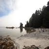 A seastack rock formation in Benson Island.  Broken Island Group, Barkley Sound, Vancouver Island, British Columbia, Canada