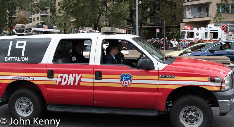 Battalion Chief Fahy motorcade 9/28/16