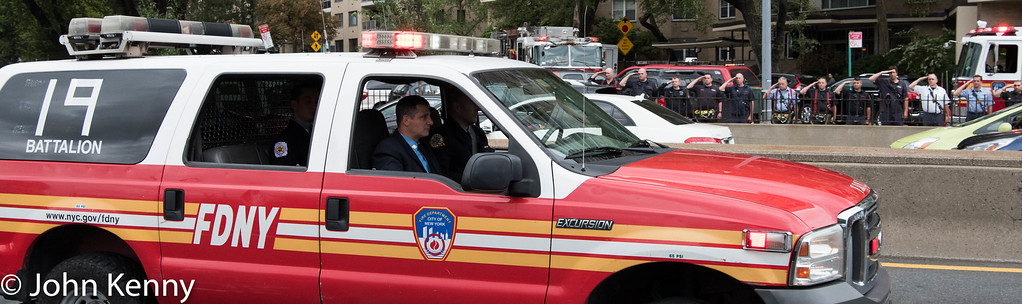 Battalion Chief Fahy motorcade 9/28/16