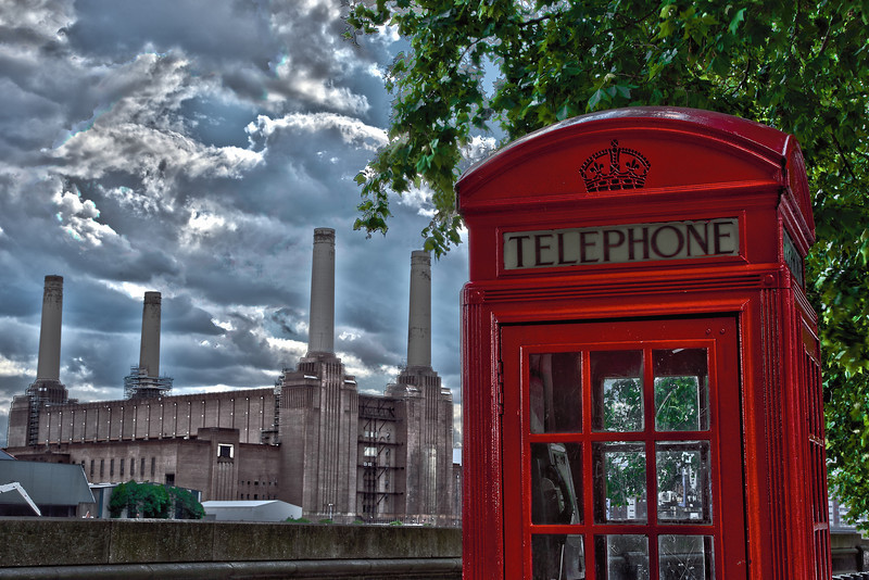 Red Phone Box and Battersea Power Station