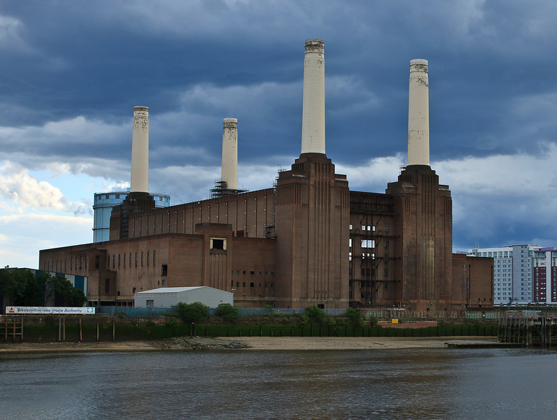 Battersea Power Station before the storm