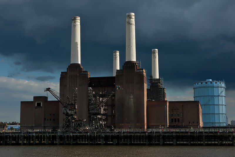 Battersea Power Station London Before The Storm