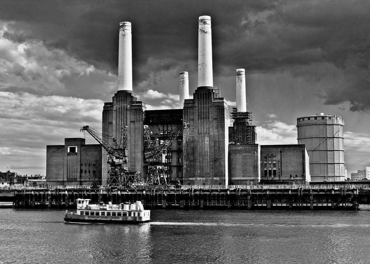 Black and White Battersea Power Station