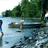 In 1996 my family rented a rowboat at Button Bay State Park and rowed down to Arnold Bay. The previous photos were taken from the spit of land in the background.