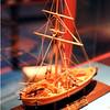 Model of the gunboat Philadelphia at the museum