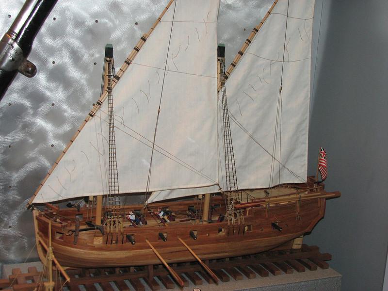 Model row galley.