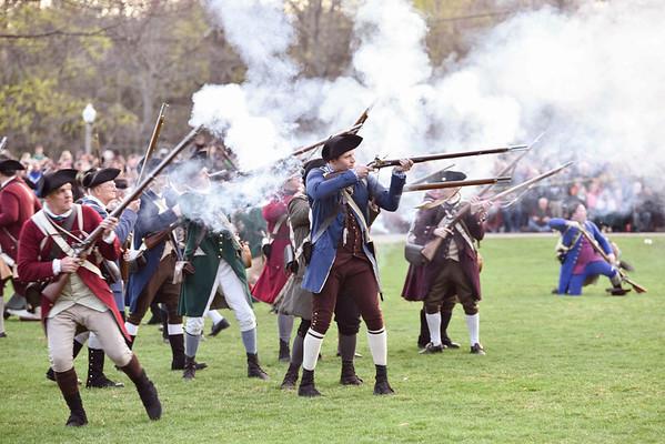 Battles Of Lexington And Concord Reenactment