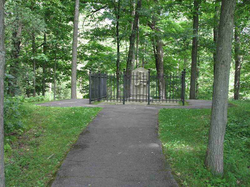 "A short path from the site of the redoubt leads one to the shady spot where the ""Boot Monument"" has been erected to honor Arnold's contribution."