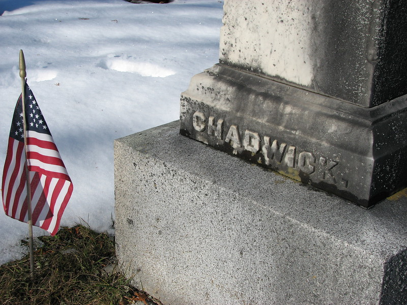 base of Chadwick's monument
