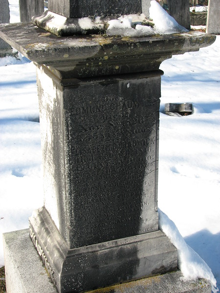 Chadwick's inscription is on the east face of the monument