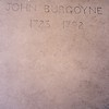 Burgoyne's grave was unmarked until 1960, when this simple inscription was cut.