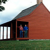 View of the Neilson House, Benedict Arnold's headquarters on the battlefield. Photo shows this author and his father at the site in the early 1990s.