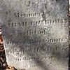 Inscription on her stone