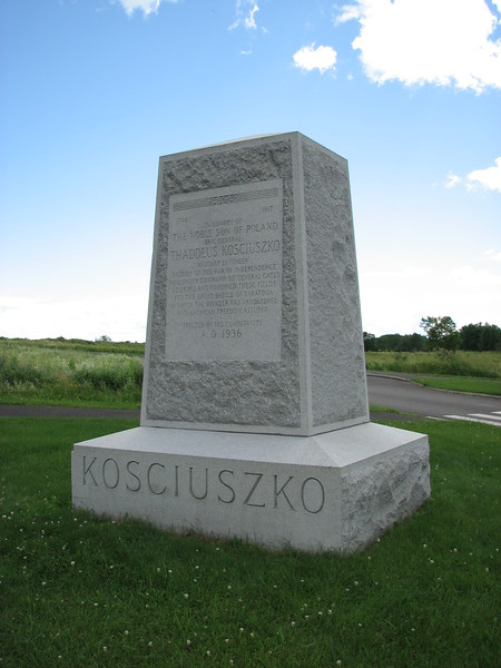 The monument to Kosciuszko, situated along the park road near the Neilson Farmhouse.