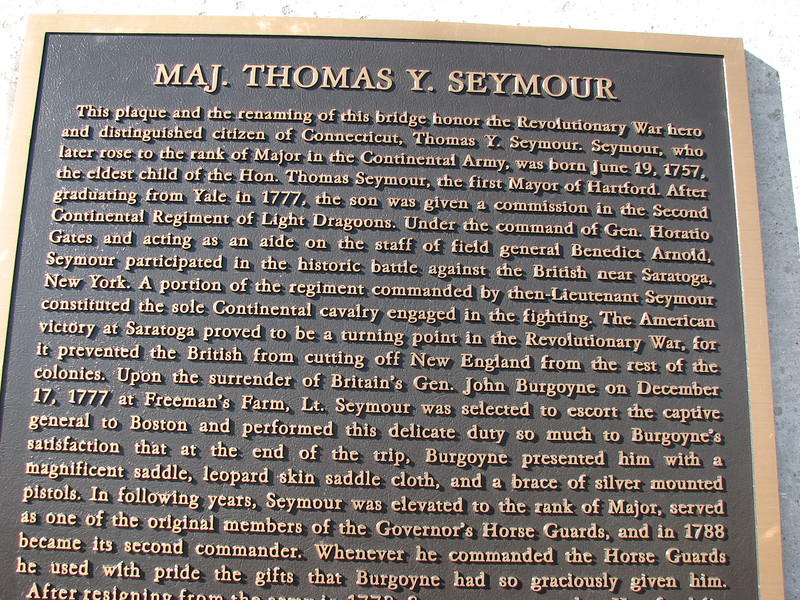 Note the 7th line, which tells that Seymour served on Gen. Arnold's staff at Saratoga.