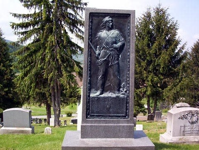 Monument to Murphy near his grave, as seen on the I Love NY website