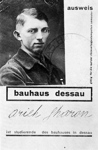 Sharon's Bauhaus student identy card