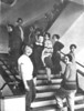 The Weaving Class on the Bauhaus Staircase