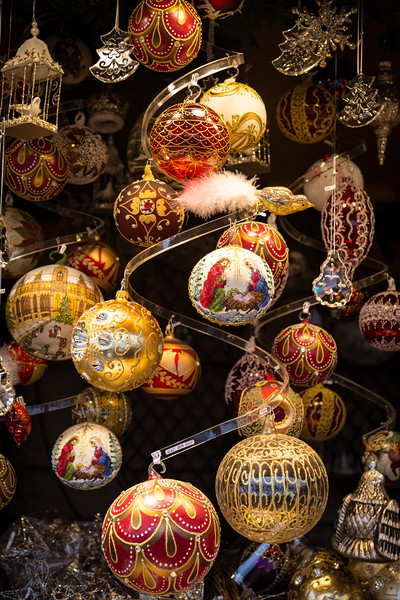 Christmas ornaments at Schonbrunn Palace