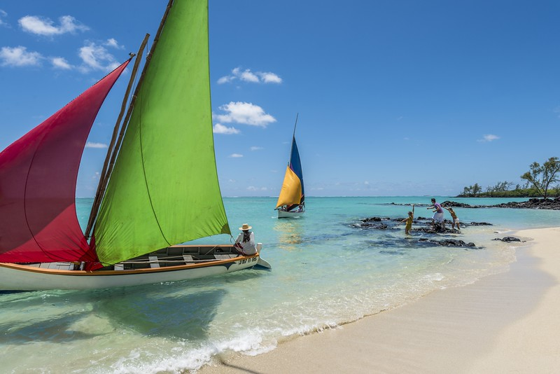 Beach and Sailboats