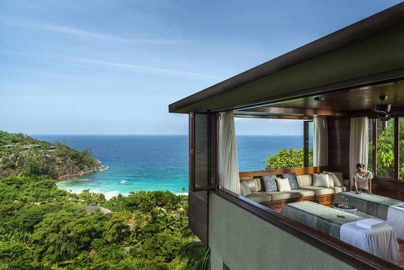View from couples double treatment room at the Hilltop Spa