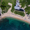 Aerial View to the Beach Club restaurant and private beach