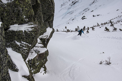 Skier : Emmanuel Demers Location Cathedral Face