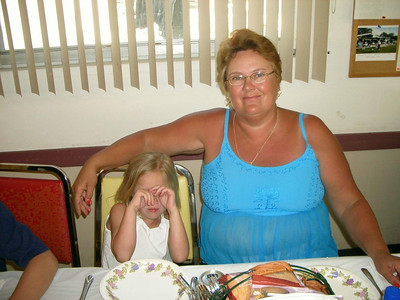 Linda Anderson and grandaughter Bay Aire Camping