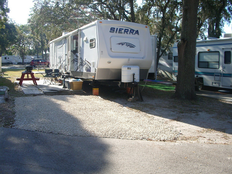 2008  bay aire RV winter site with new stones