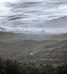 Monochrome landscape (hike)