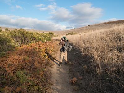 Karl at work (pre-hike)