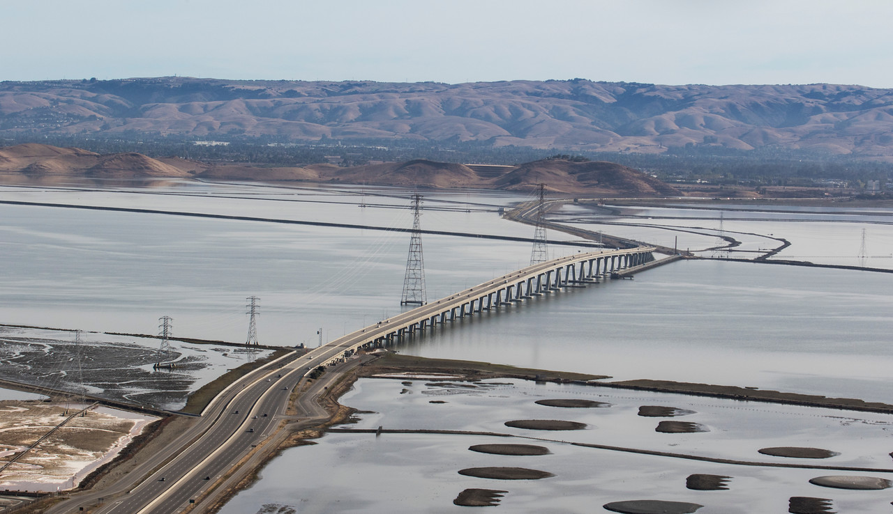 Dumbarton Bridge and East Bay
