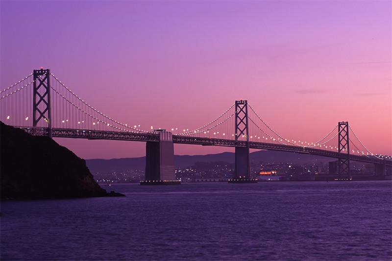 Bay Bridge from Treasure Island, San Francisco