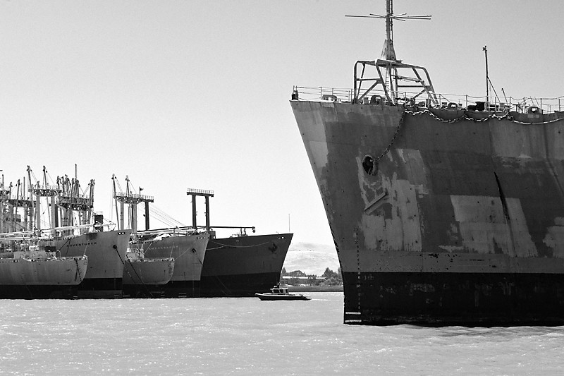 Ships in Repose<br /> <br /> Ships in the Mothball Fleet waiting their fate.