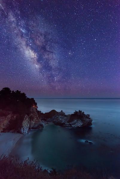 Milky Way over McWay Falls