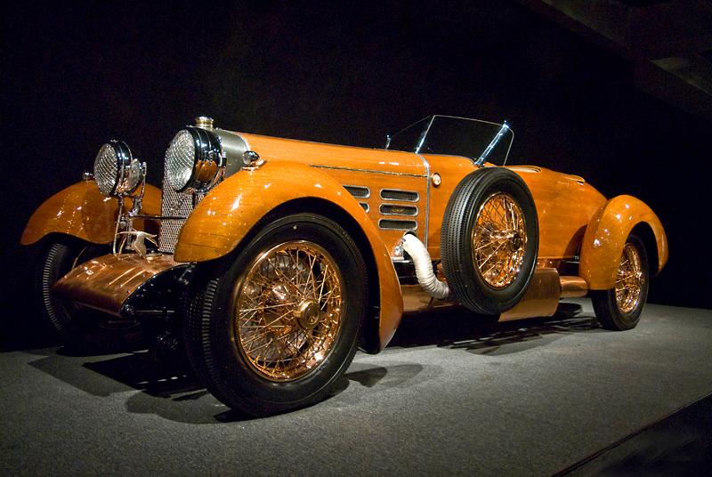 "Blackhawk Automotive Museum<br /> 1924 Hispano-Suiza<br /> Model H6C ""Tulipwood"" Torpedo<br /> Wooden Rib Frame"