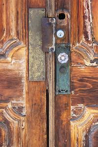 Front door to the Burlington Hotel, Port Costa, CA