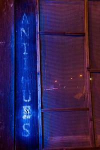 Blue Antiques  Laine's Grocery Store, Alviso, CA  Blue gel'd flash light + street lights
