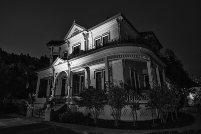"""McConaghy House in Hayward, CA  The Hayward Historical Society runs tours of the  McConaghy House and in October they run special evening tours.    The """"Shrouded Tales"""" tour examines death traditions of the late 19th and early 20th centuries."""