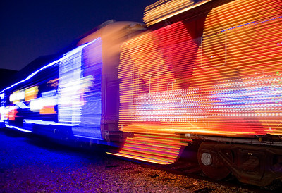 Blue and Orange Christmas Train