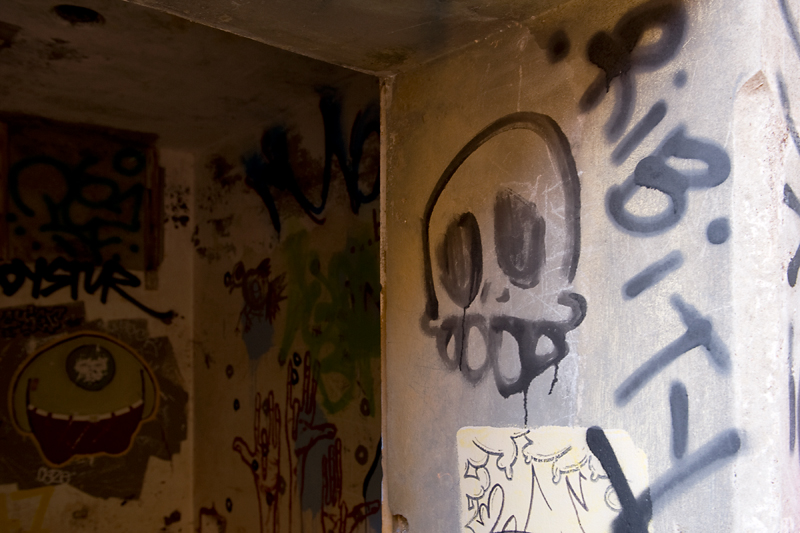 More graffiti at the military battery.