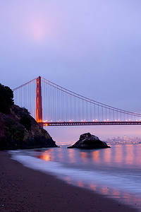 Golden Gate Bridge in the early morning light.