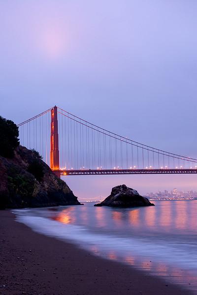 Golden Gate Bridge in the early morning light.