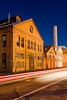 Historic Core with tail light trails<br /> <br /> Mare Island - Nocturnes Workshop