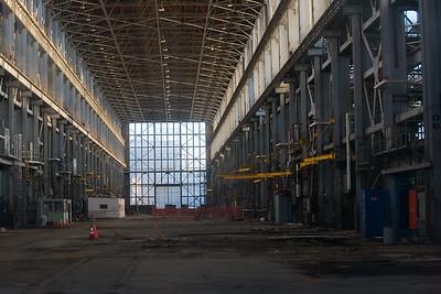Interior, Building 680 Mare Island, Vallejo, CA  Shot through a window.