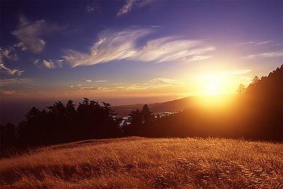 Mount Tamalpais Sunset overlooking Stinson Beach