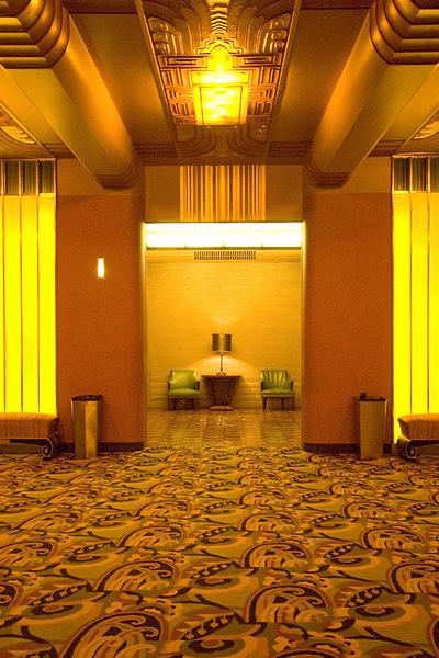 Men's lower level lounge.