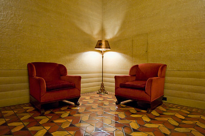 Two Chairs and a Lamp