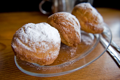 Brenda's apple beignets are pretty special, just don't breath in while eating.
